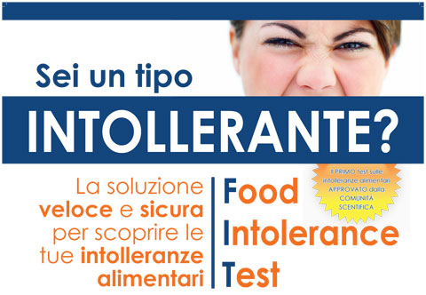 Test per le intolleranze alimentari