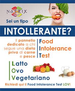 locandina test intolleranze alimentari lov