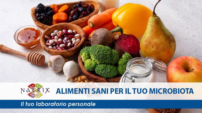 immagine articolo alimenti sani microbiota